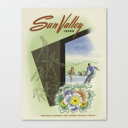 Vintage poster - Sun Valley, Idaho Canvas Print