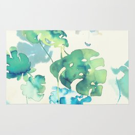 Tropical Leaves Collab. Dylan Silva Rug