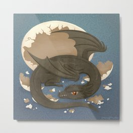 Dragon Hatchling Metal Print