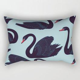 BEAUTIFUL ELEGANT BLACK SWAN PATTERN Rectangular Pillow