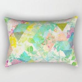Floral triangles Rectangular Pillow