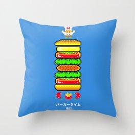BurgerTime Throw Pillow