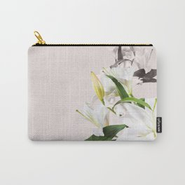 Tropical White Flowers #society6 #decor #buyart Carry-All Pouch