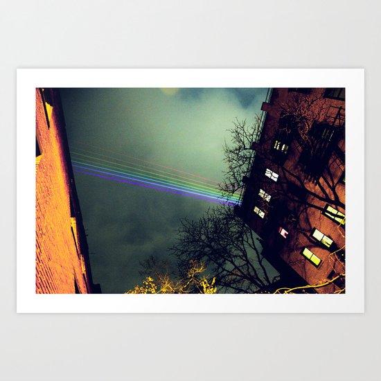A Rainbow Over Manhattan  Art Print