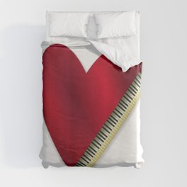 Love Playing Piano Duvet Cover