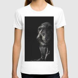 black_and_white,lion T-shirt