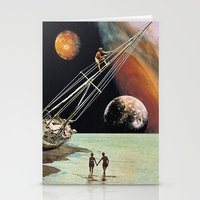 Stationery Cards featuring Set Sail for the Stars by Eugenia Loli