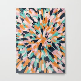 Paint Burst Metal Print