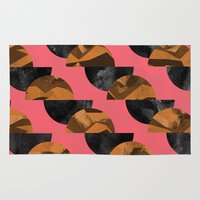 black and gold Area & Throw Rugs featuring gold,black by Georgiana Paraschiv