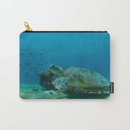 "Turtle saying ""Take my flipper and let us begin our adventure"" Carry-All Pouch"