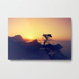 sunrise in mountains Metal Print