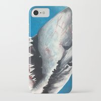 shark iPhone & iPod Cases featuring Shark by Kristin Frenzel