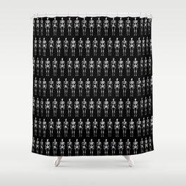 White Skeletons Shower Curtain