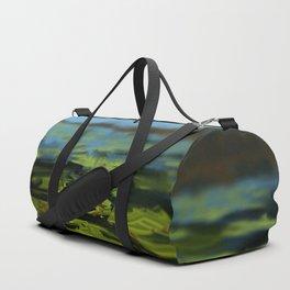 Water lilies nature lake vegetation painting Duffle Bag