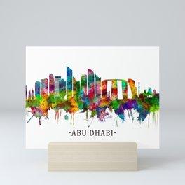 Abu Dhabi UAE Skyline Mini Art Print