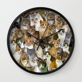 A Gathering of Cats Wall Clock