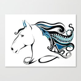 Andalusian Equine Tribal Ink & Marker Art Canvas Print