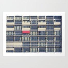 Red Awning Art Print