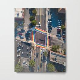 Atlanta Rainbow Crosswalks Metal Print