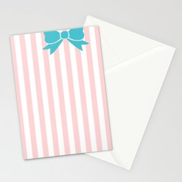 Teal Bow Stationery Cards