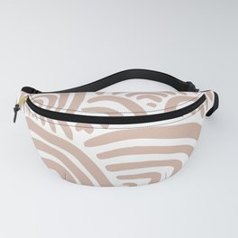 Rainbow Dreams   Blush Pink on White   Abstract Rainbow Wall Art Fanny Pack