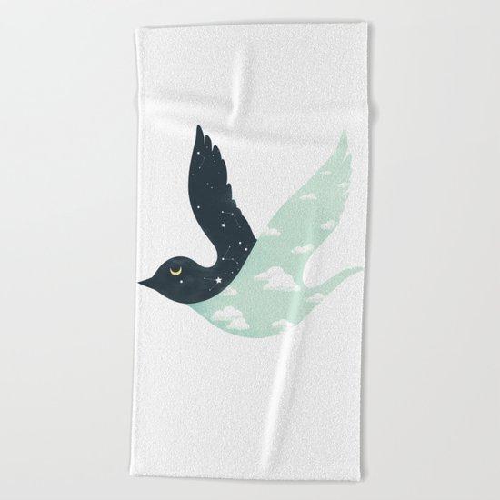 Bipolar Bird Beach Towel