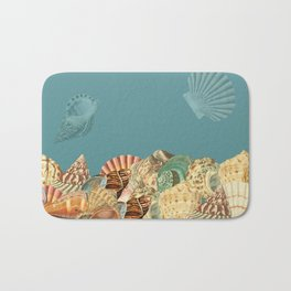 Sea shells Composition 2 Bath Mat