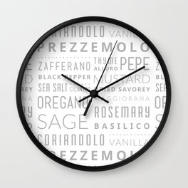 Italian Herbs & Spices Wall Clock