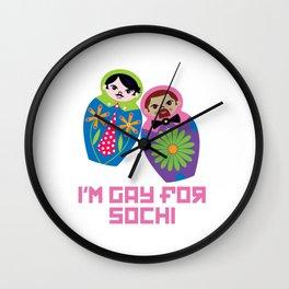 I'm Gay for Sochi—Male Nesting Dolls Wall Clock