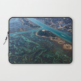 Aerial Photograph | Intracoastal Waterway | Wilmington North Carolina Laptop Sleeve