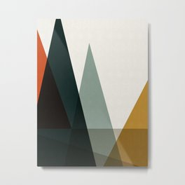 Abstract and geometric landscape 05 Metal Print