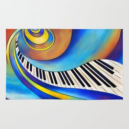 Redemessia - spiral piano Rug