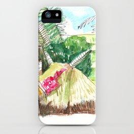 beautiful countryside landscape rice field iPhone Case