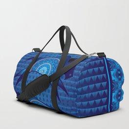 Buffalo Running (Blue) Duffle Bag