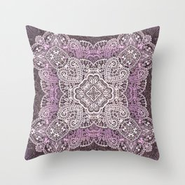 four pointed paisley star in light pink Throw Pillow