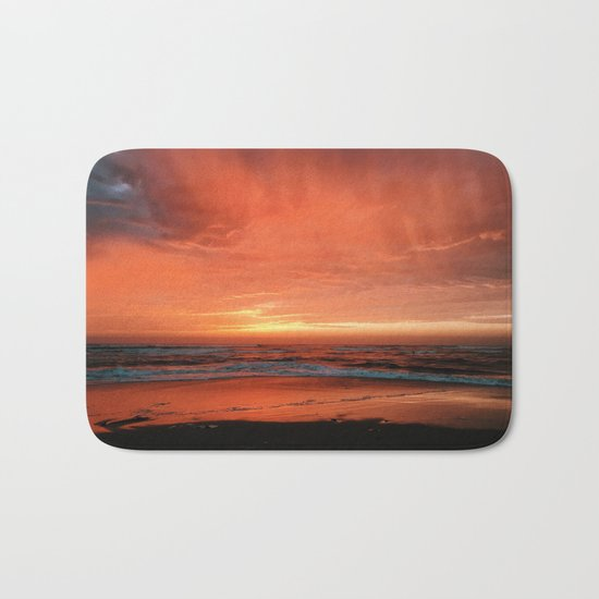 Ocean Waves #sunset Bath Mat