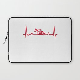 Backhoe Heartbeat excavator and Digger Xmas Gift Laptop Sleeve