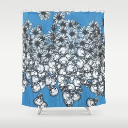 This Side of the Blue Shower Curtain