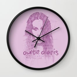 Auntie Alanis Wall Clock