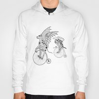 steam punk Hoodies featuring Steam Punk Pets by Rebecca Pocai