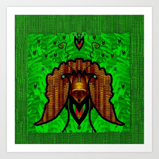 Animals In The Fantasy Forest Art Print By Pepita Selles