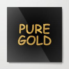 Pure Gold Metal Print
