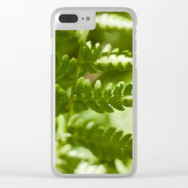 Fern Photography Print Clear iPhone Case