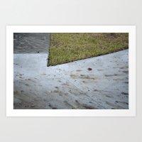 Two Tone Sidewalk Art Print
