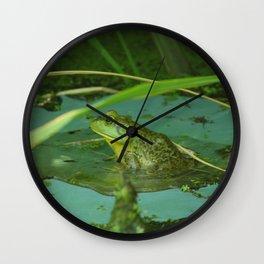 Frog Photography Print Wall Clock