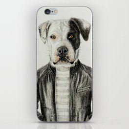 dog in leather iPhone Skin