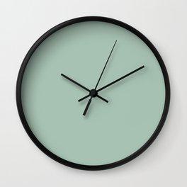 Light Spring Rain Celadon Green Solid Wall Clock
