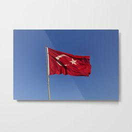 Flag Of Turkey Metal Print