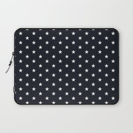 Superstars White on Black Small Laptop Sleeve