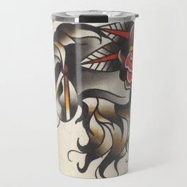 Horse Tattoo Watercolor Travel Mug